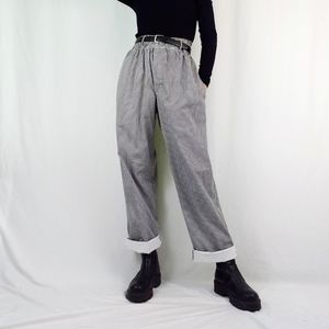 Vintage hounds tooth wide leg chef trousers